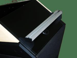 Design-M/öbelf/ü/ße Doppelpack | Material: Aluminium//Kunststoff +20mm 8 St/ück H/öhe: 100mm Sossai/® MFV1-BM Vierkant-Profil: 40 x 40 mm h/öhenverstellbar 2 x 4er Set Farbe: Mattschwarz
